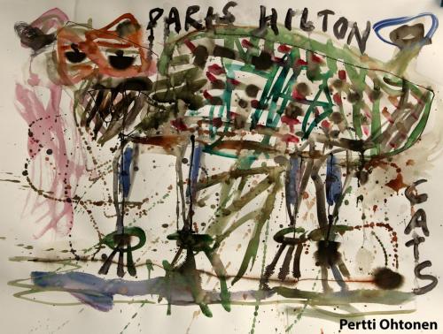 Paris Hiltonin kissa
